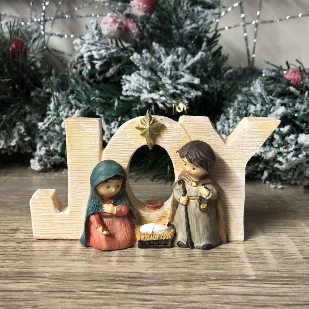 Joy Freestanding Ornamental Plaque Nativity Scene